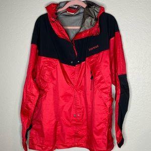 New Marmot Red Black Gortex Hood Jacket Size M
